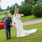 Wedding toast Stock Photography