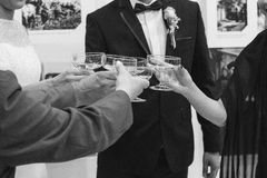 Wedding toast Stock Images