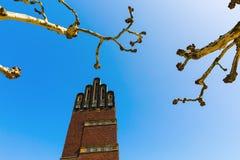Wedding tower in Darmstadt, Germany. Wedding tower on the Mathildenhoehe in Darmstadt, Germany Stock Image