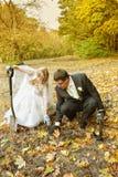 Wedding treasure hunt Stock Images