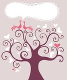 Wedding tree. Vector Illustration of a wedding tree Royalty Free Stock Photography