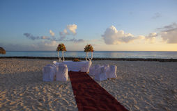 Wedding in tropic. Wedding Gazebo on the Beach Stock Photos