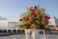 Wedding in tropic. Wedding Gazebo on the Beach Royalty Free Stock Photo