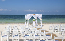 Wedding on tropical beach. Royalty Free Stock Photography