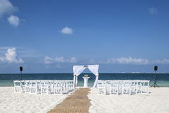 Wedding on tropical beach. Stock Image