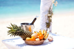 Wedding tropical celebration Royalty Free Stock Photography