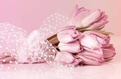 Wedding tulips bouquet Stock Image