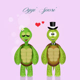 Wedding of turtles Stock Photo