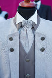 Wedding tuxedo, modern grey Stock Photos
