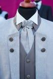 Wedding tuxedo, modern grey stock photos