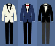 Wedding tuxedo set Stock Images