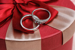 Wedding two rings close up Royalty Free Stock Photos