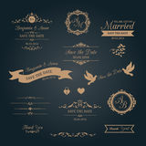 Wedding typography with monograms Royalty Free Stock Photo
