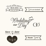 Wedding typography Royalty Free Stock Images