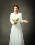 Wedding unbelievable expression Royalty Free Stock Photography