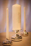 Wedding Unity Candles Stock Photo
