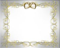 Wedding or Valentine Border Stock Photo