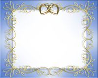 Wedding or Valentine Border frame. 3D Illustration for Wedding Frame, Valentine or Invitation Background, border or frame with copy space Stock Images