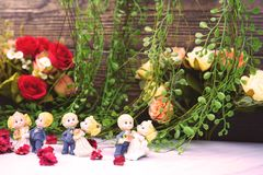 wedding and valentine dancing dolls royalty free stock photography
