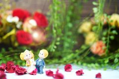 wedding and valentine dancing dolls royalty free stock photo