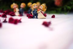 wedding and valentine dancing dolls stock photo