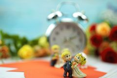 wedding and valentine dancing dolls stock photography