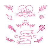 Collection of design elements for cards, invitations, etc. Vector illustration. Stock Photo