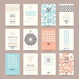 Wedding, Valentine`s day, Birthday Party Templates. Wedding, Valentine`s day, birthday party invitation, greeting cards. Hipster collection of templates with Stock Images