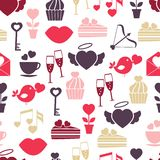 Wedding and Valentines Day seamless pattern Royalty Free Stock Image