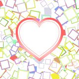 Wedding or valentines heart with abstract  Royalty Free Stock Photo