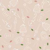 Wedding and Valentines seamless pattern Royalty Free Stock Photography