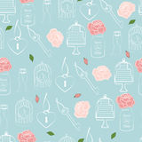 Wedding and Valentines seamless pattern Royalty Free Stock Image