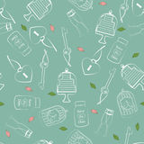 Wedding and Valentines seamless pattern Stock Photography