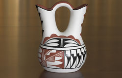 Wedding Vase. Native American wedding vase.  The couple drinks out of the two spouts and are then married Stock Image