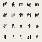 Wedding  vector icons Royalty Free Stock Images