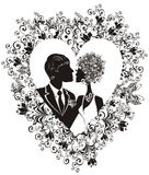 Wedding. Vector illustration Stock Photo