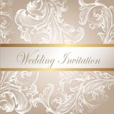 Wedding vector invitation card with swirl element Stock Photos