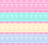Wedding vector set. Of lacy ribbons Stock Photos