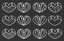 Wedding vector six set, background. Wedding vector six set, Couple heart, background Stock Illustration