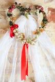Wedding Veil. With decorative floral headband Stock Image