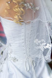 Wedding veil and corset Stock Photos