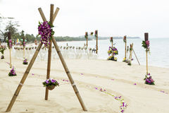 Wedding on the beach . Royalty Free Stock Images
