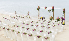 Wedding on the beach . Royalty Free Stock Image