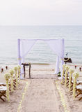 Wedding on the beach . Royalty Free Stock Photo