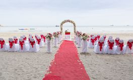 Wedding venue on the beach Stock Photo