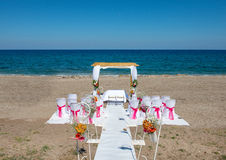 Wedding Venue on the Beach Royalty Free Stock Image