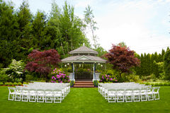 Wedding Venue and Chairs Royalty Free Stock Photos
