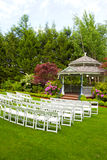 Wedding Venue and Chairs Stock Images