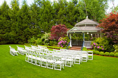 Wedding Venue and Chairs Royalty Free Stock Images