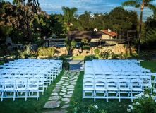 Wedding venue chairs Stock Photography
